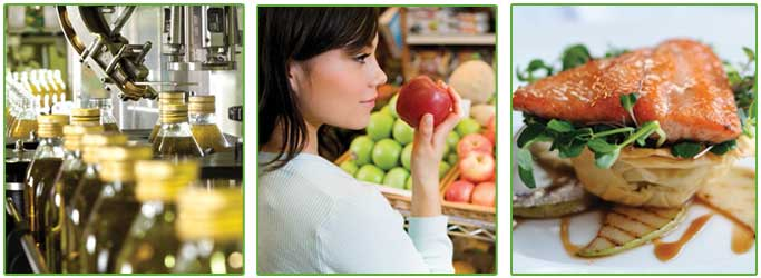 Elevating Food Safety home page images